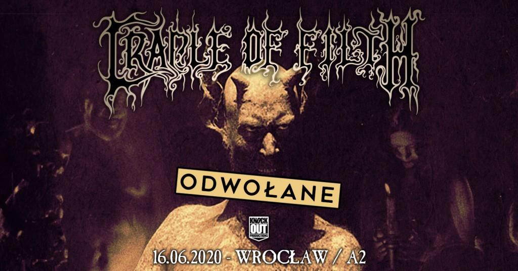 Wrocławski koncert Cradle Of Filth odwołany