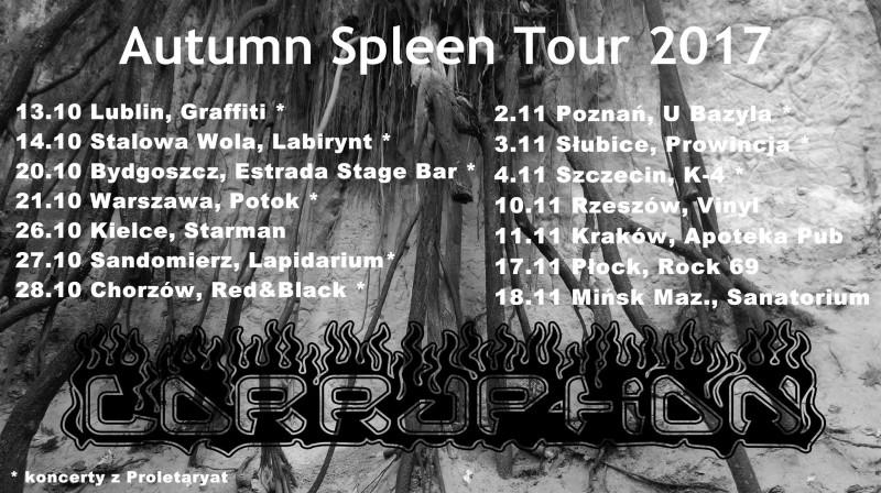 """Corruption """"Autumn Spleen Tour 2017"""""""