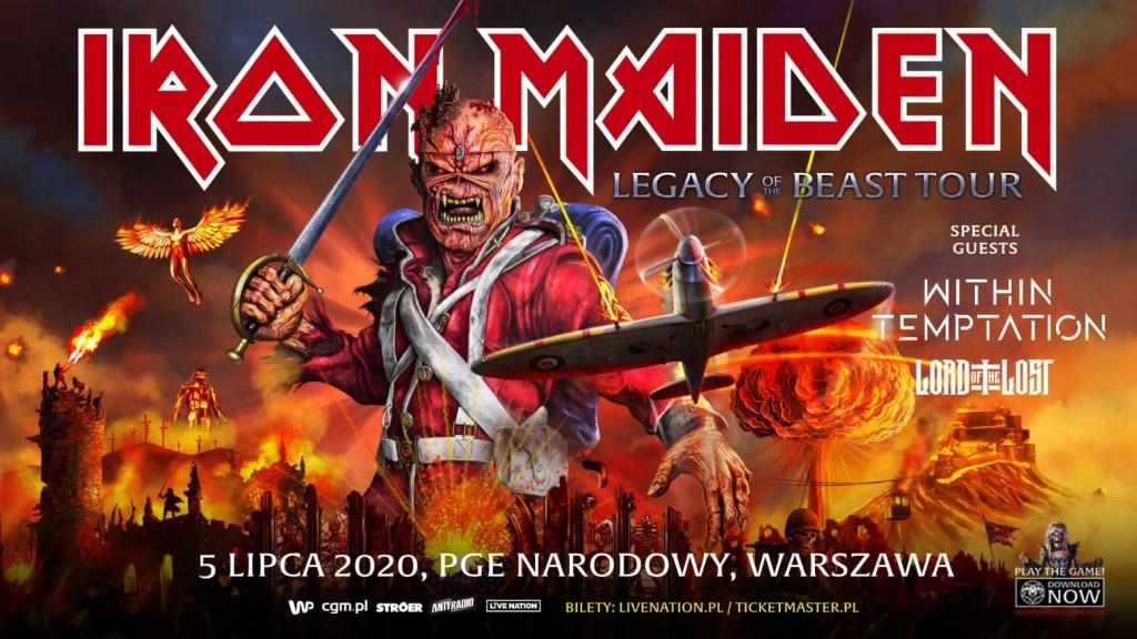 IRON MAIDEN 5 lipca zagra na PGE Narodowym w Warszawie