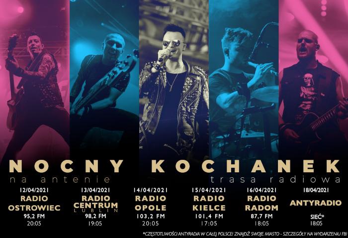 Nocny Kochanek wyrusza w trasę koncertową godną Zdrajców Metalu.