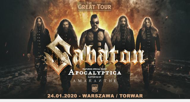 Sabaton + Apocalyptica oraz Amaranthe