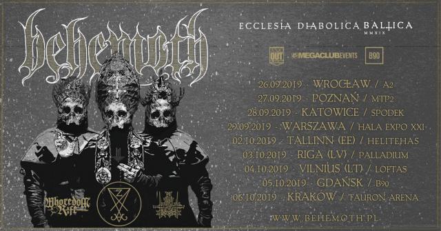 "Behemoth: Trasa ""Ecclesia Diabolica Baltica"""