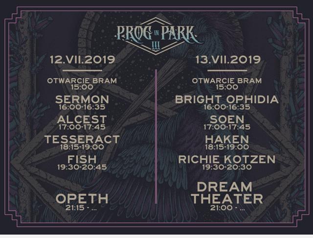 Prog In Park - oficjalny timetable