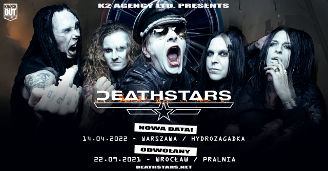 Deathstars w Polsce: Nowa data koncertu w Warszawie, występ we Wrocławiu odwołany