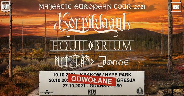 Korpiklaani i Equilibrium odwołują trasę koncertową
