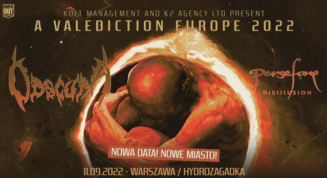 Obscura w Polsce: Zmiana terminu i miejsca koncertu