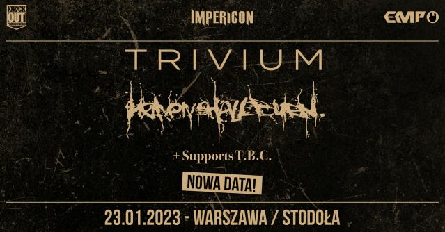 Trivium i Heaven Shall Burn w Polsce: Koncert przełożony